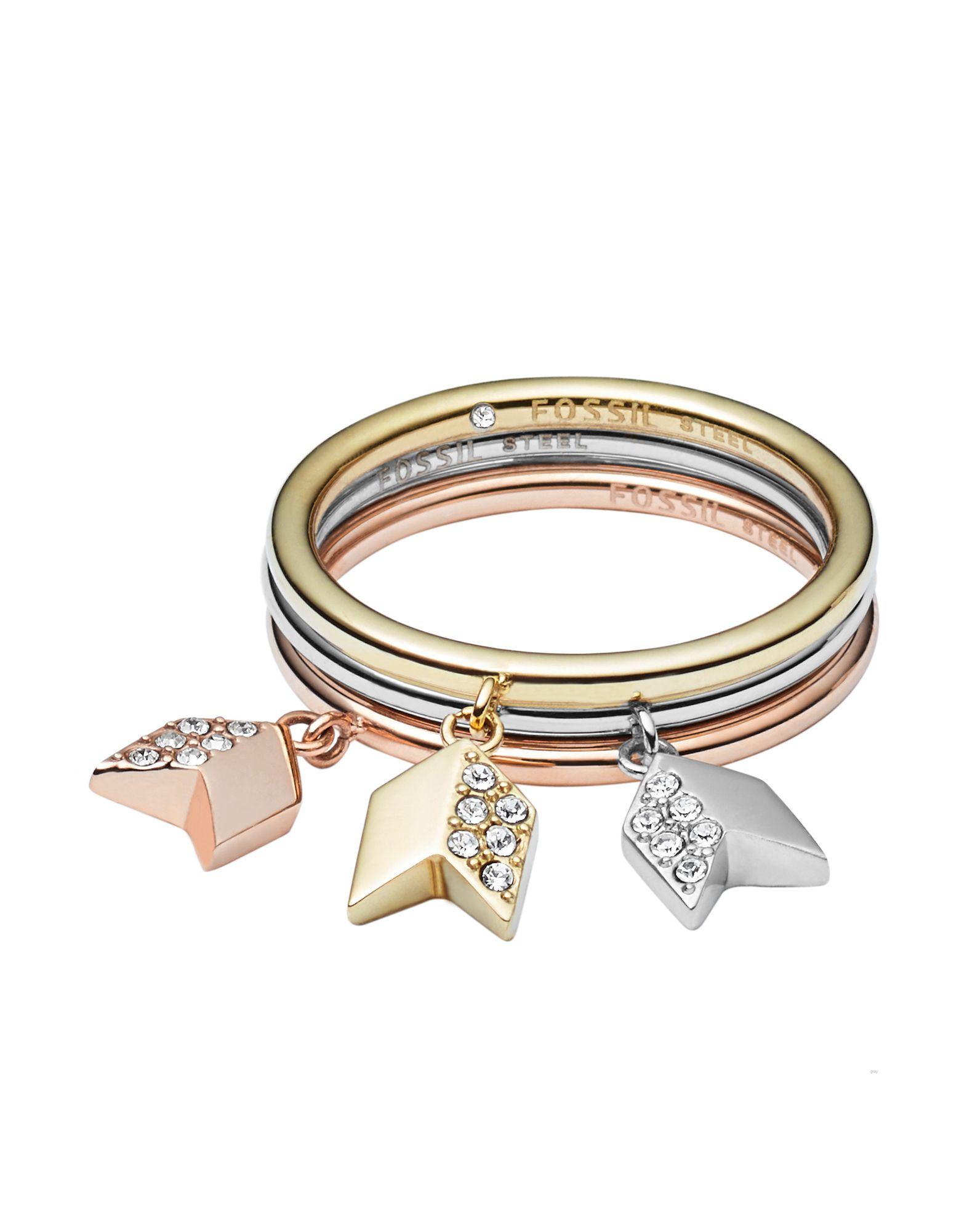 FOSSIL Damen Ring Farbe Silber Größe 14