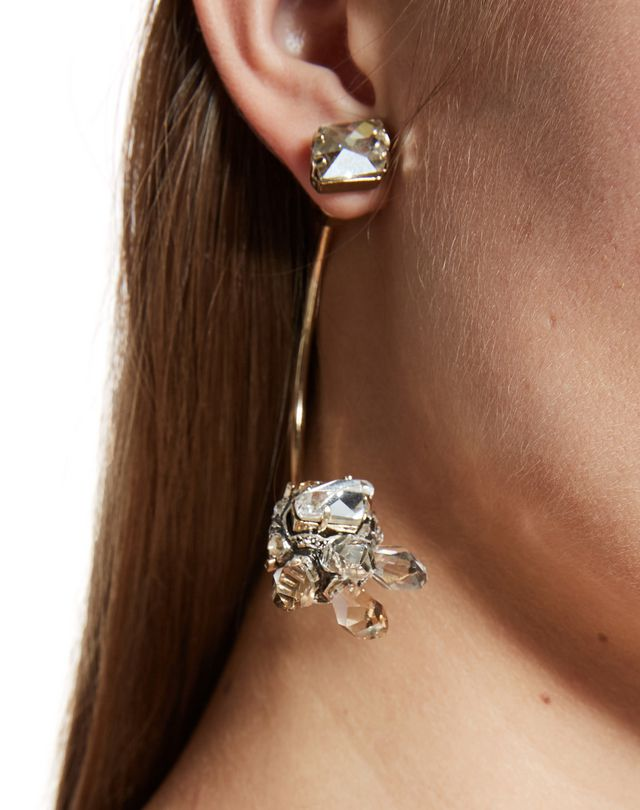 "LANVIN ""CRISTAL DE ROCHE"" EARRING Earrings D r"