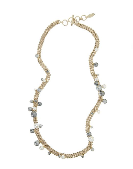 "lanvin ""perles"" long necklace women"
