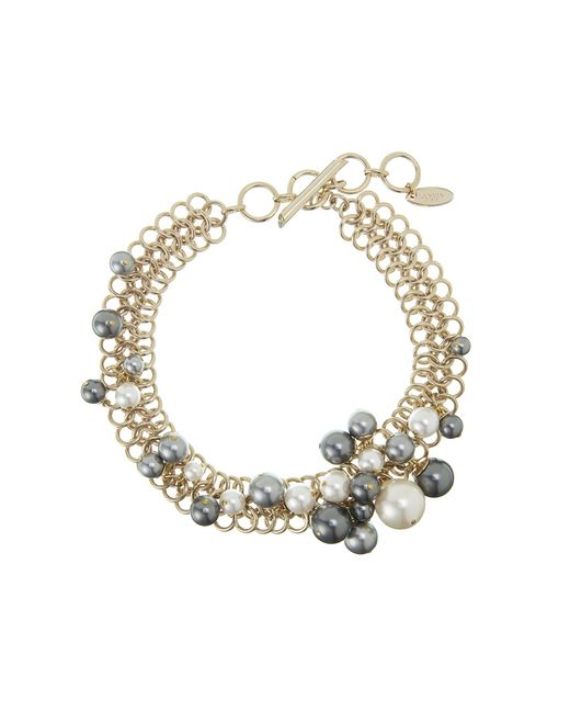 "lanvin ""perles"" short necklace women"
