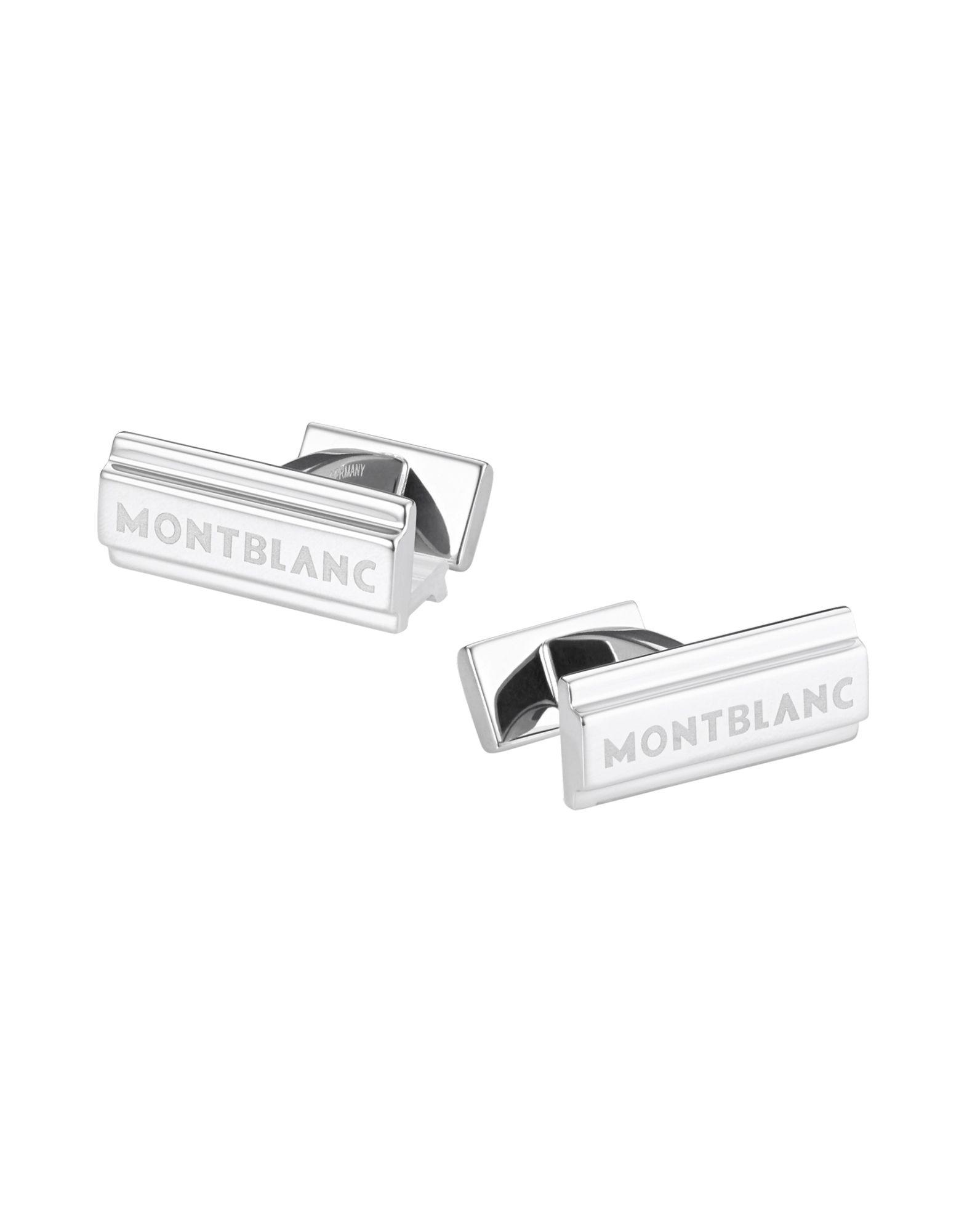 《送料無料》MONTBLANC メンズ カフリンク&タイピン シルバー 酸性染料 Cuff links, sterling silver, single bar