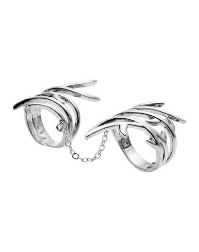 Фото - Женское кольцо  свинцово-серого цвета