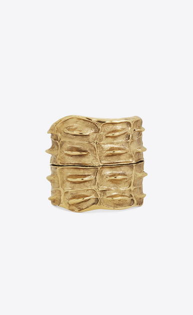 SAINT LAURENT Bracelets D opyum crocodile textured cuff in gold brass v4