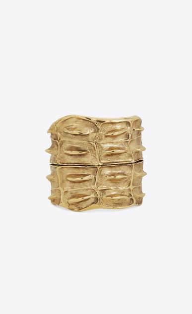 SAINT LAURENT Bracelets D polsino opyum a texture crocodile color oro in ottone v4