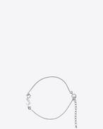 SAINT LAURENT Bracelets D MONOGRAM Charm Bracelet in Silver f