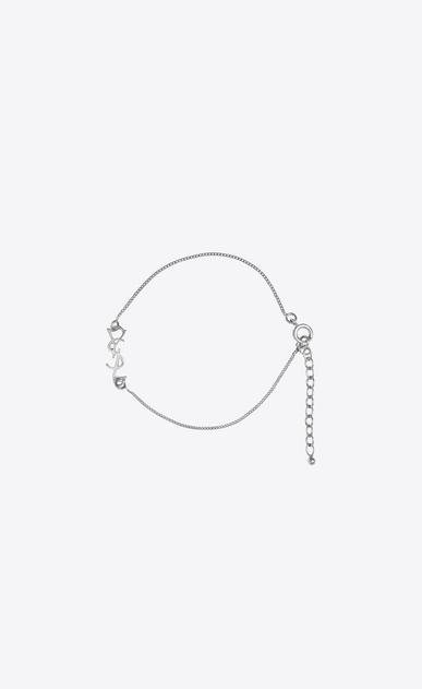 SAINT LAURENT Bracelets D monogram charm bracelet in silver brass v4