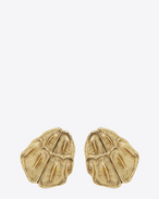 SAINT LAURENT Earrings D opyum crocodile earrings in gold brass f