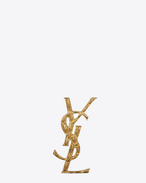 SAINT LAURENT Brooch D opyum ysl crocodile brooch in gold brass f