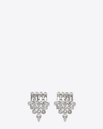 SAINT LAURENT Earrings D smoking earrings in silver brass and clear crystal f