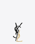 SAINT LAURENT Brooch D monogram deconstructed brooch in black and gold brass f
