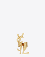SAINT LAURENT Rings D monogram deconstructed ring in old gold brass f
