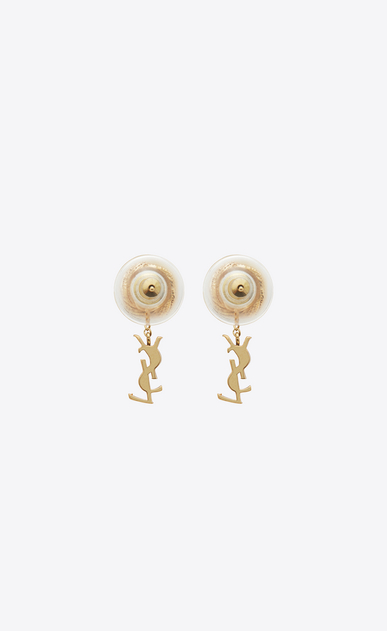 SAINT LAURENT Earrings D monogram brandebourg earrings in gold brass b_V4