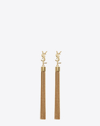 SAINT LAURENT Earrings D monogram mini tassel earrings in gold brass f