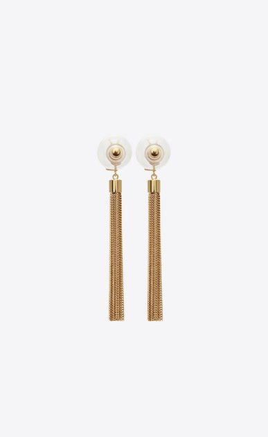 SAINT LAURENT Earrings D monogram mini tassel earrings in gold brass b_V4