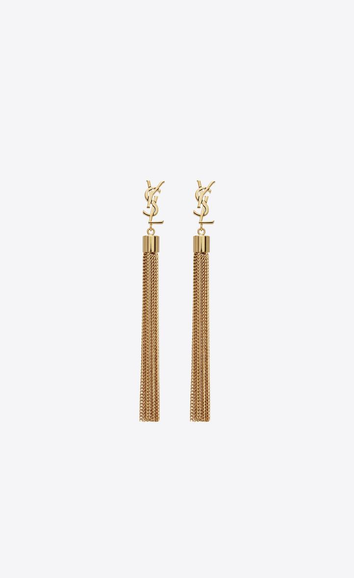 Mini Tel Earrings In Gold Br Front View