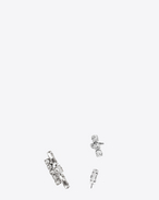 SAINT LAURENT Earrings D SMOKING Set of Earrings in Silver-Toned Brass and Clear Crystal f