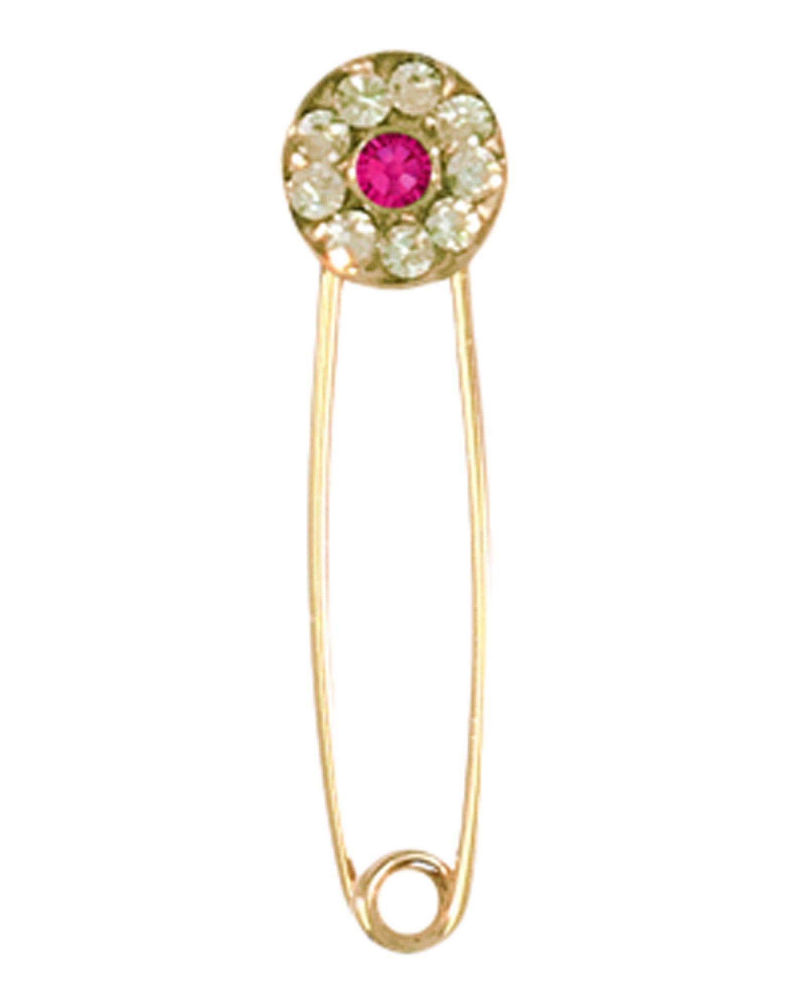 《送料無料》EYLAND レディース ピアス&イヤリング ゴールド クリスタル / 9金メッキ / 真鍮/ブラス JUDY SINGULAR SAFETY PIN EARRING