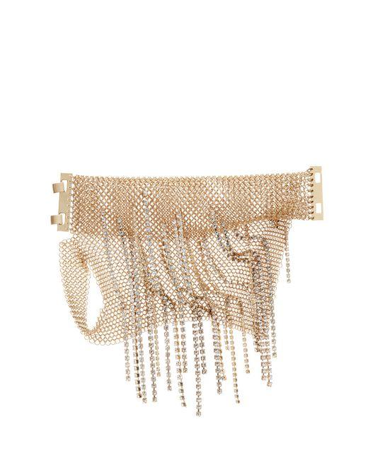 lanvin fringed chainmail mitten bracelet women