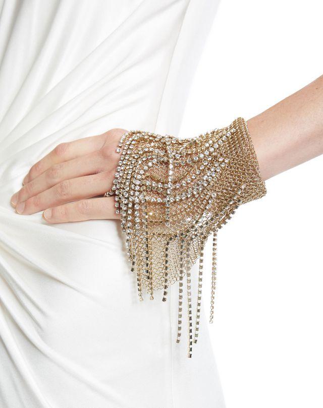 LANVIN FRINGED CHAINMAIL MITTEN BRACELET Bracelet D r