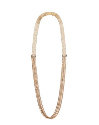 LANVIN LONG CHAIN AND FRINGE NECKLACE Necklace D f