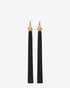 SAINT LAURENT Earrings D LOULOU Tassel Earrings in Gold and black f