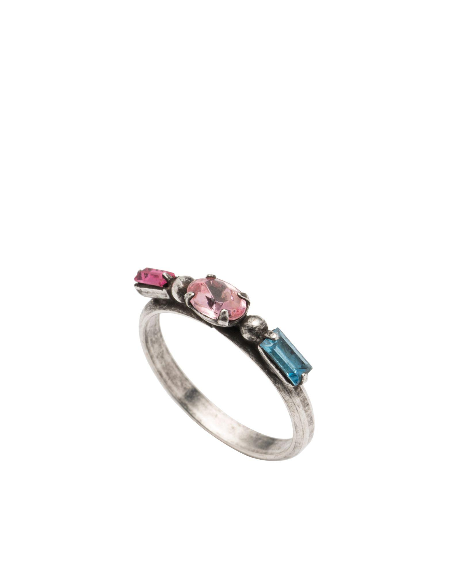 《セール開催中》DANNIJO レディース 指輪 シルバー 6 真鍮/ブラス / クリスタル MELODY