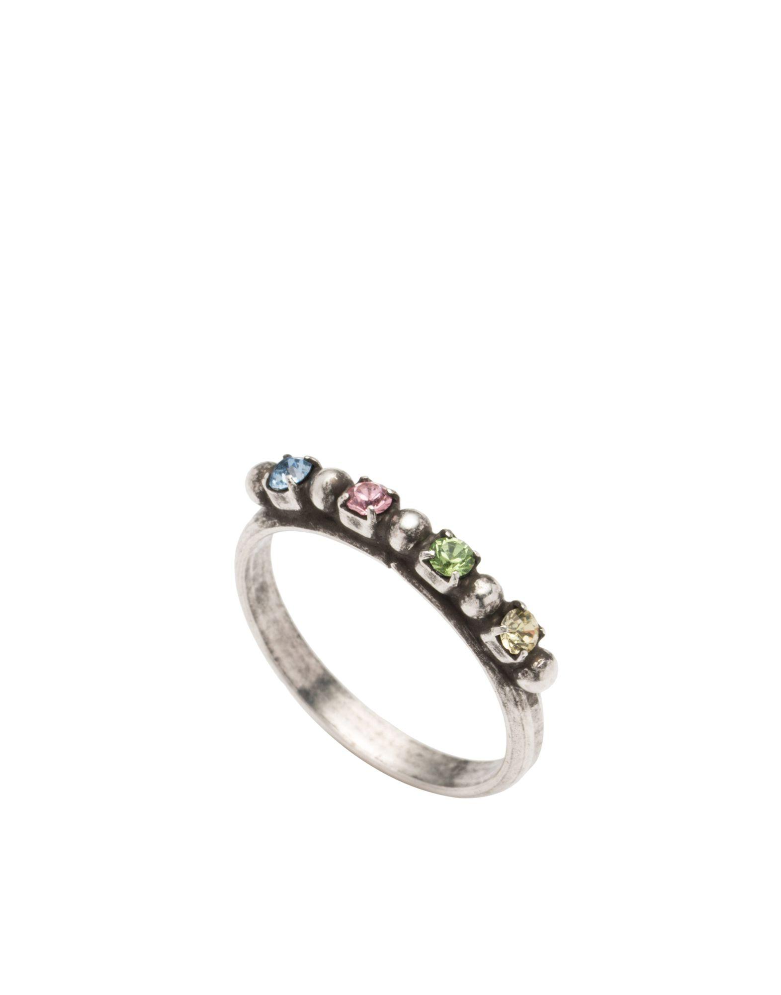 《セール開催中》DANNIJO レディース 指輪 シルバー 6 真鍮/ブラス / クリスタル MARVEL
