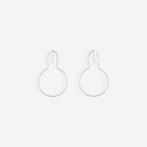 BALENCIAGA Safety Jewelry Woman Safety Hoop Earrings f