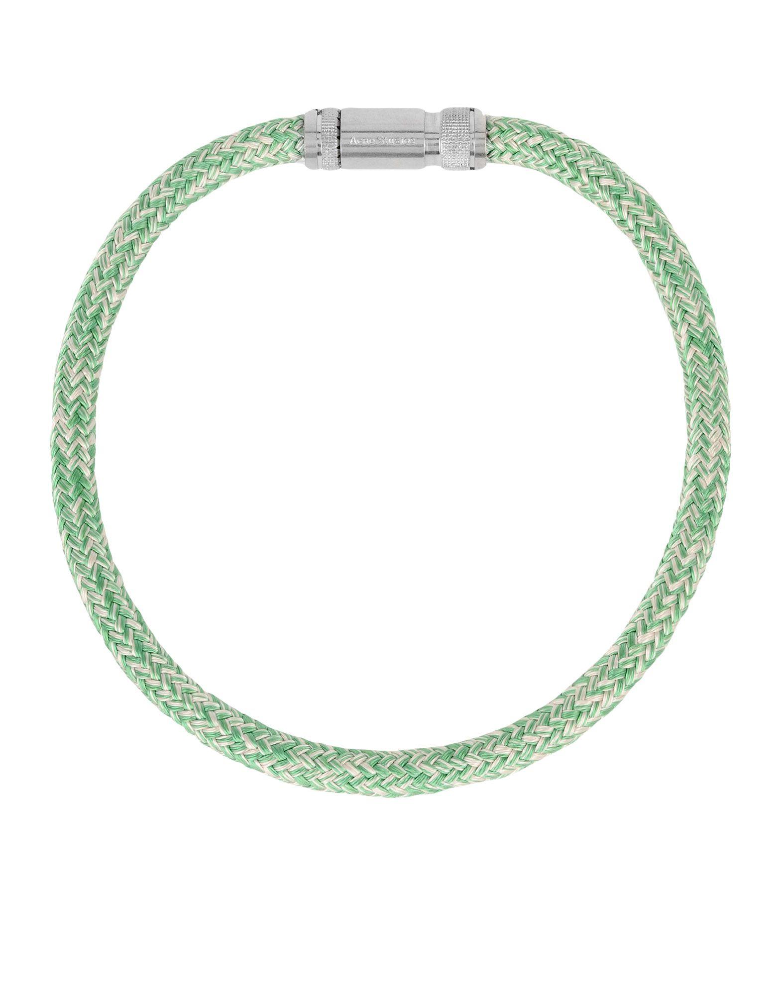 《送料無料》ACNE STUDIOS レディース ネックレス ライトグリーン 紡績繊維