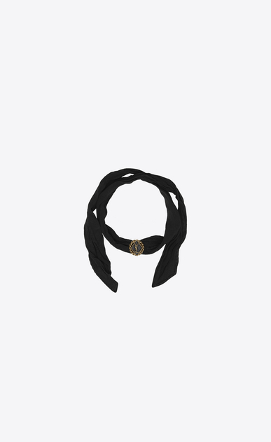 SAINT LAURENT Bracelets D ARMY Braided Wrap Bracelet in Gold Tin and Brass and Black Enamel and Silk v4