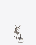 SAINT LAURENT Rings D MONOGRAM Set of Deconstructed Rings in Old Silver-Toned Metal f