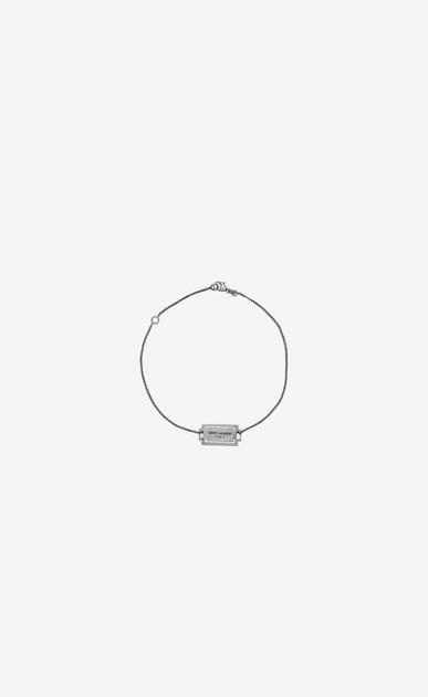 SAINT LAURENT Bracelets U RAZOR BLADE Bracelet in Oxidized Silver-Toned Brass a_V4
