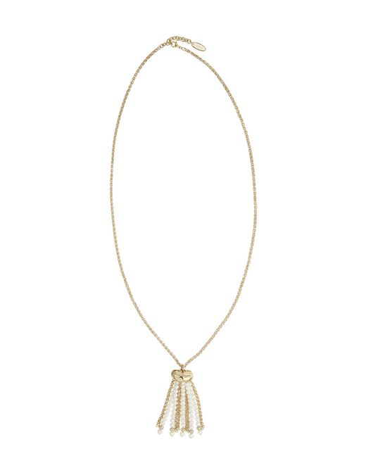 lanvin pearl pendant necklace women