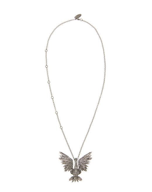 lanvin swan pendant necklace women