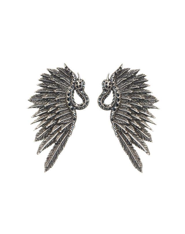 LANVIN SWAN EARRINGS Earrings D f