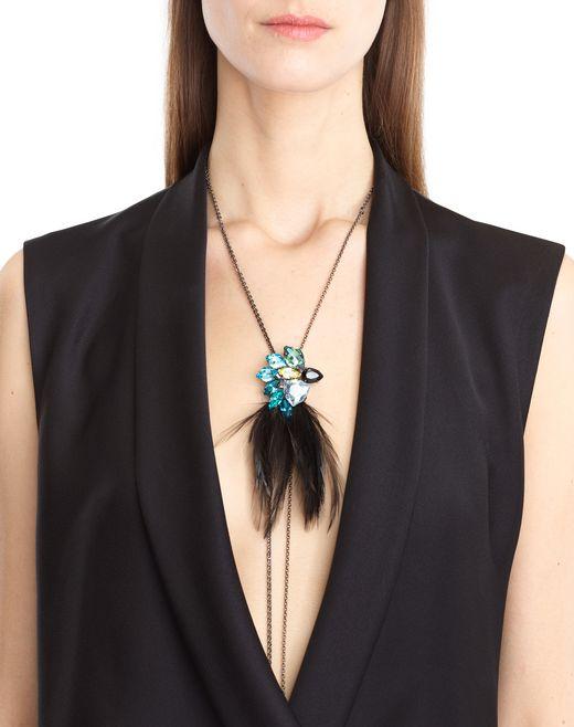 lanvin feather necklace women