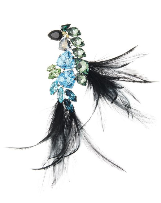 lanvin feather brooch women