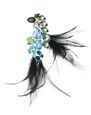 LANVIN Brooch Woman FEATHER BROOCH f