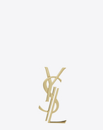 SAINT LAURENT Brooch D MONOGRAM deconstructed brooch in gold-toned brass f