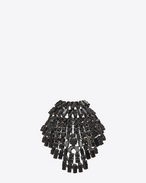 SAINT LAURENT Brooch D Broche SMOKING coquillage en laiton et cristaux noirs f