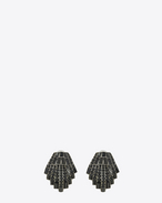 SAINT LAURENT Earrings D SMOKING seashell earrings in brass and black crystals f