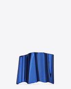 SAINT LAURENT Bracelets D BABYLONE cuff in metallic blue brass f