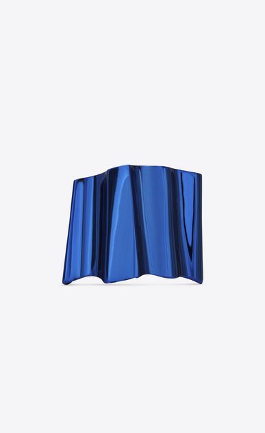SAINT LAURENT Bracelets D BABYLONE cuff in metallic blue brass v4