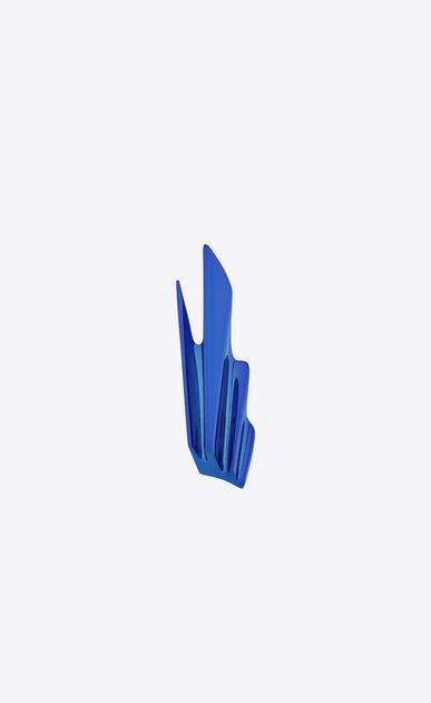 SAINT LAURENT Rings D BABYLONE ring in metallic blue brass v4