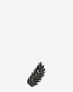SAINT LAURENT Rings D Two-finger ring in metal and black crystals f