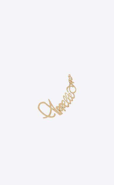 """SAINT LAURENT Earrings D """"APPELLE MOI"""" ear jewel in gold-toned brass v4"""
