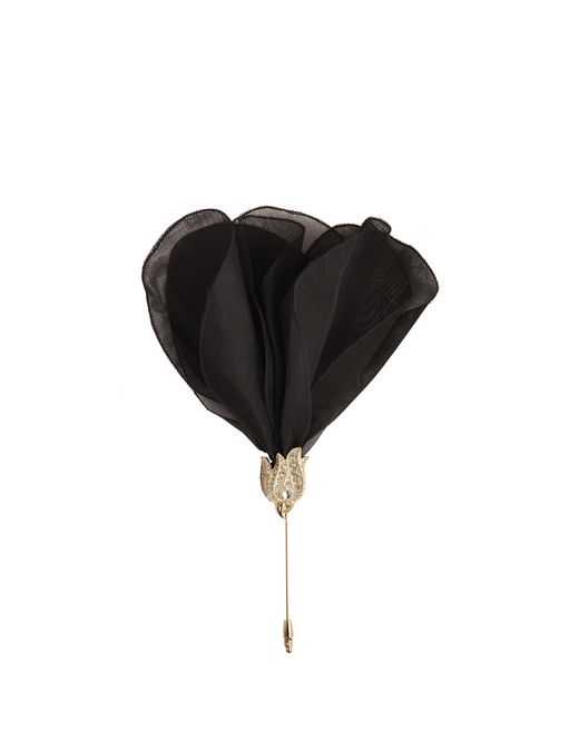 lanvin flower brooch women