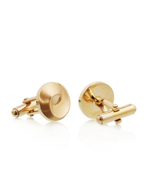 lanvin gold-plated metal cuff links men