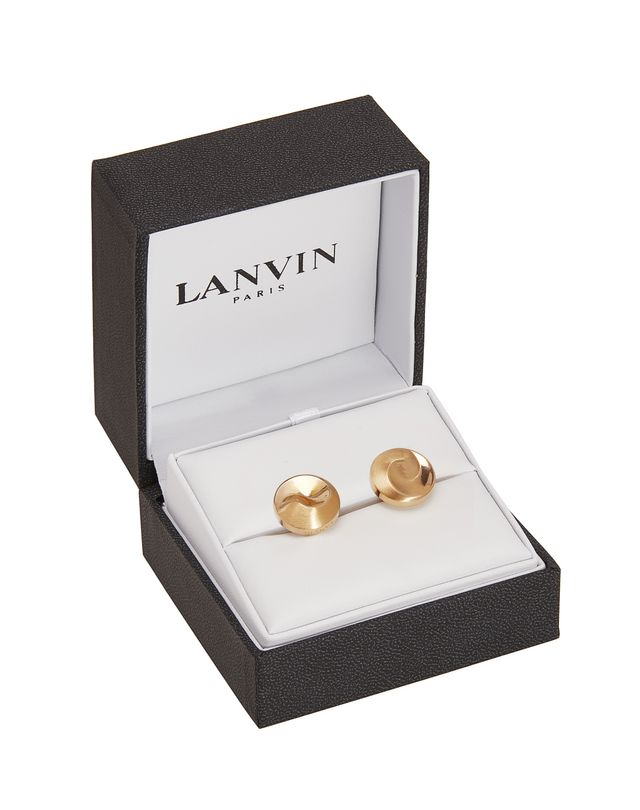 LANVIN Gold-plated metal cuff links Cufflinks U r