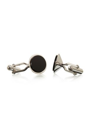 LANVIN Rhodium-plated metal cuff links Cufflinks U f